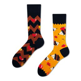 Many Mornings Socks - Apple Hedgehog - Socken