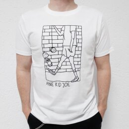 Akne Kid Joe - Give Never Up - Unisex T-Shirt (EP01) - white
