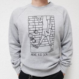 Akne Kid Joe - Give Never Up - Sweatshirt (EP65) - grey