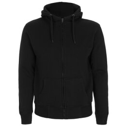 Continental - N52Z - Mens High Neck Zip Up Hood - black
