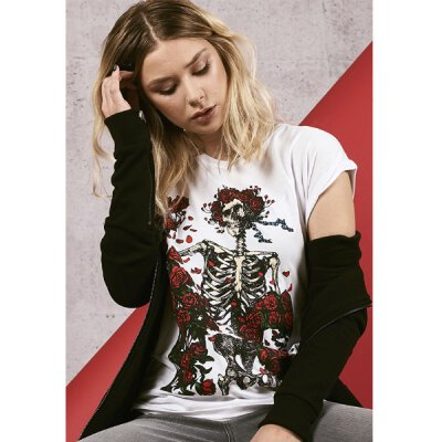 Grateful Dead - Ladies Rose Tee - white