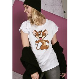 Tom & Jerry - Ladies Mouse Tee - white