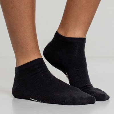 Urban Classics - TB2157 - Logo No Show Socks - 5 Pack - black