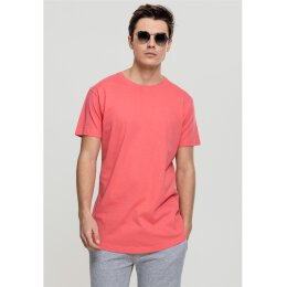 Urban Classics - TB638 - Shaped Long Tee - T-Shirt - coral
