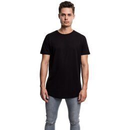 Urban Classics - TB638 - Shaped Long Tee - T-Shirt - black
