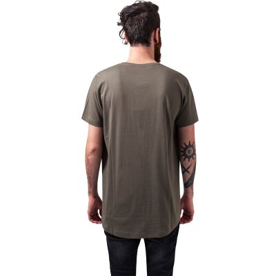 Urban Classics - TB638 - Shaped Long Tee - T-Shirt - olive