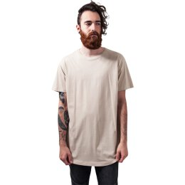 Urban Classics - TB638 - Shaped Long Tee - T-Shirt - sand