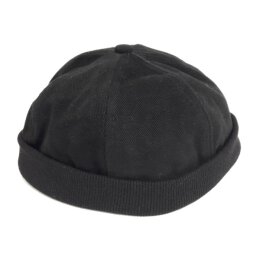 Basic Twill Docker Cap - black