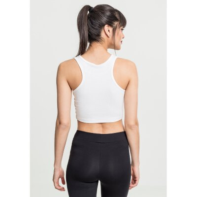 Urban Classics - TB2215 - Ladies Rib Cropped Top - white