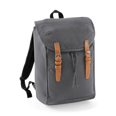 Quadra by Beechfield - QD615 Vintage Backpack - graphite...