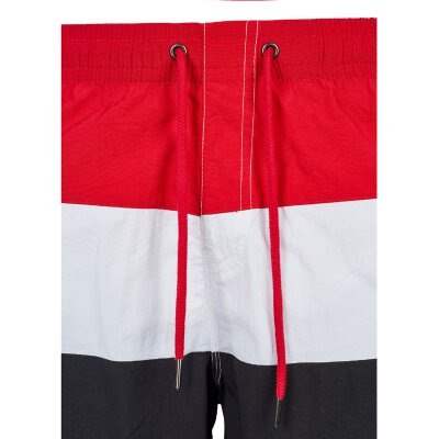 Urban Classics - TB2051 - Color Block Swimshorts - black/firered/white