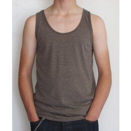 American Apparel - TR408 - Tri Blend Tank - tri coffee