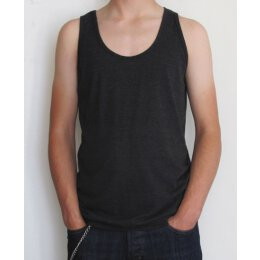 American Apparel - TR408 - Tri Blend Tank - tri black