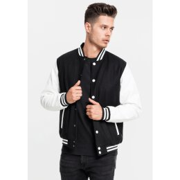 Urban Classics - TB201 Oldschool Collegejacke - black/white