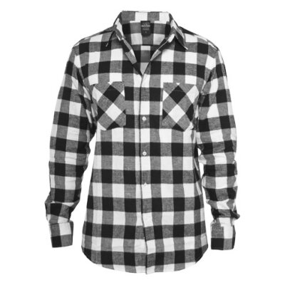 Urban Classics - TB297 Checked Shirt - white/black