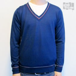 Pop - V-Neck Jumper - blue