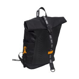 Urban Classics - TB2262 - Nylon Backpack - black/neonorange