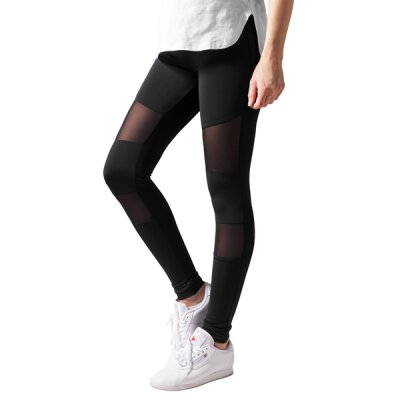 Urban Classics - TB1174 Ladies Tech Mesh Leggings - black