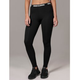 Urban Classics - TB1492 Ladies Logo Leggings - black