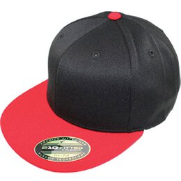 Flexfit 210 fitted - black / red