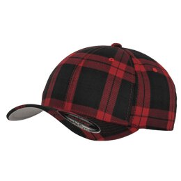 Flexfit - Tartan Plaid Baseball Cap - red
