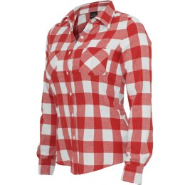 Urban Classics - TB388 Ladies Checked Flanell Shirt - red...