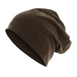 Heather Jersey Beanie - choco