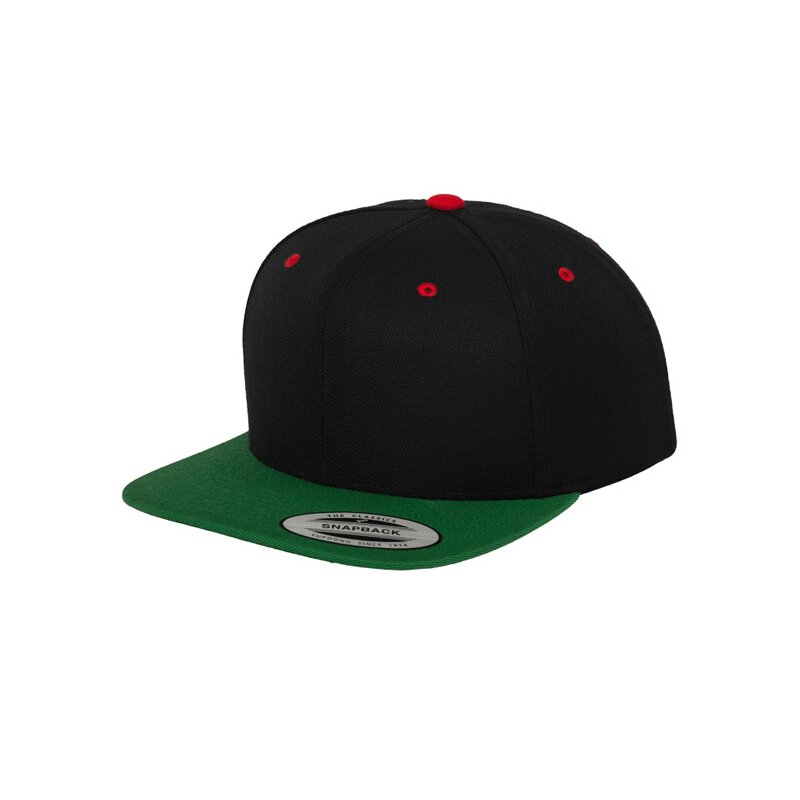 Flexfit - Snapback - black/forest/red