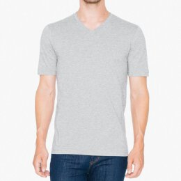 American Apparel - Fine Jersey V-Neck T-Shirt - heather grey