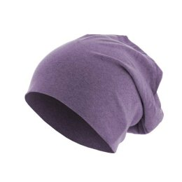 KMA - Heather Jersey Beanie - purple