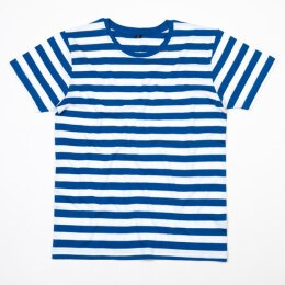 Mantis - Stripy T-Shirt - royal blue/white