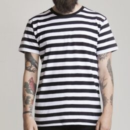 Mantis - Stripy T-Shirt - black/white
