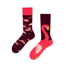 Many Mornings Socks - Pink Flamingo - Socken