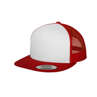 Flexfit - Classic Trucker Cap (6006W) - red/white/red