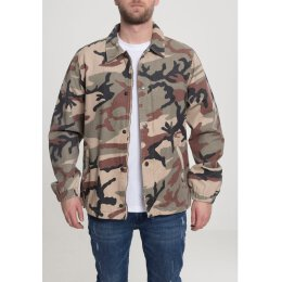Urban Classics - TB2418 - Camo Cotton Coach Jacket - wood...