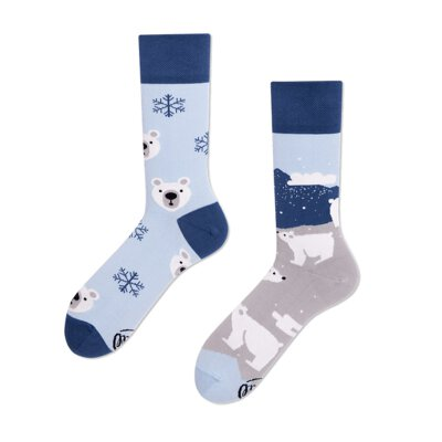 Many Mornings Socks - Polar Bear - Socken