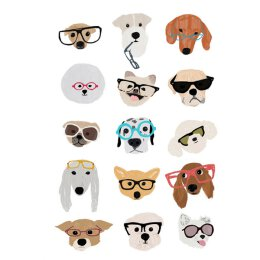 Dogs with glasses - Postkarte