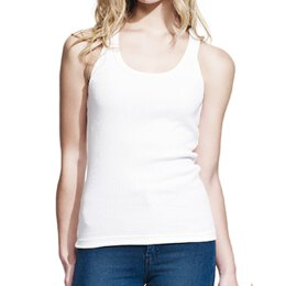 Continental - N06 Girl Rib Tank - white